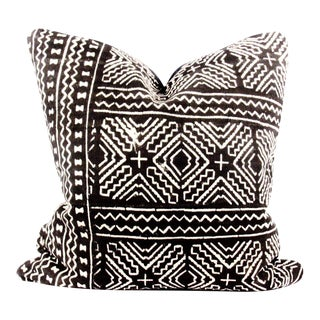 Chic Edge Black African Mudcloth Pillow