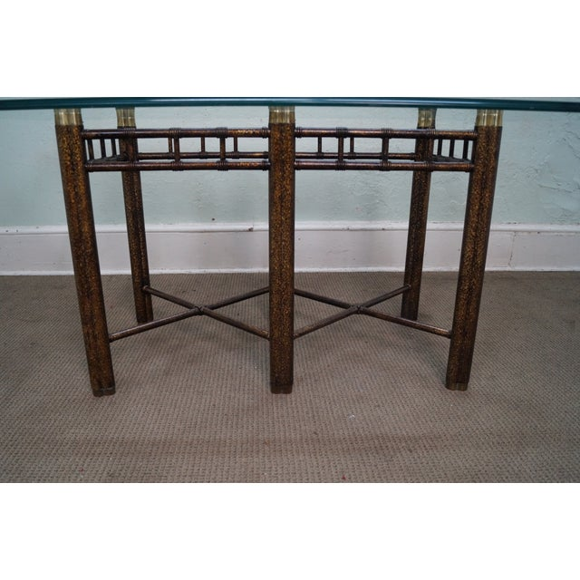 Faux Bamboo Tortoise Shell Painted Dining Table For Sale - Image 10 of 10