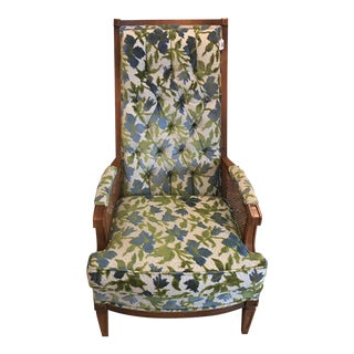 Vintage Broyhill Chenille Side Chair