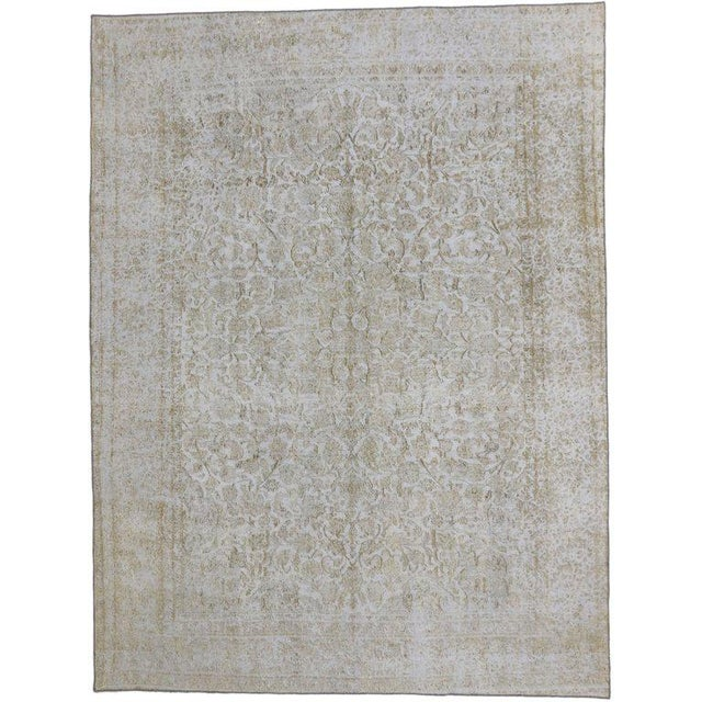Mid 20th Century 20th Century Turkish Rug With Muted, Neutral Colors For Sale - Image 5 of 5