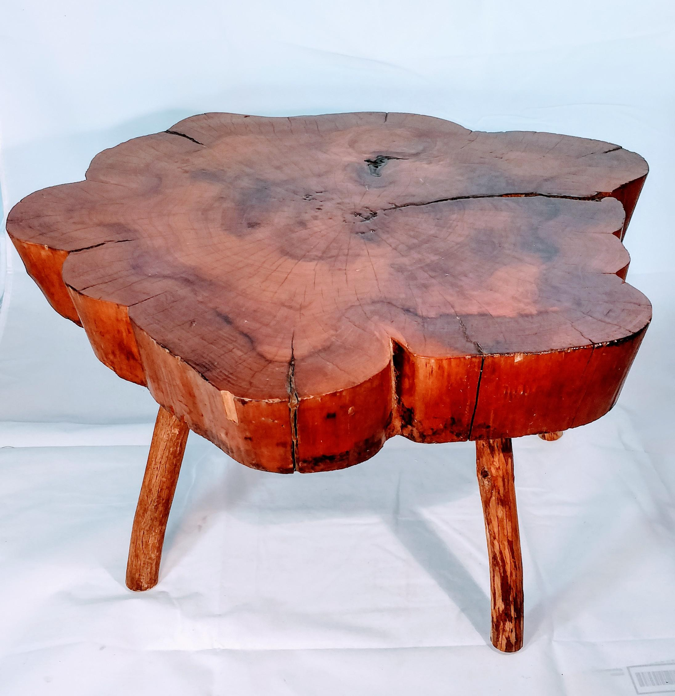 Fantastic Live Edge Vintage Cypress Table. Perfect Side Table, Small Coffee  Table Or Even
