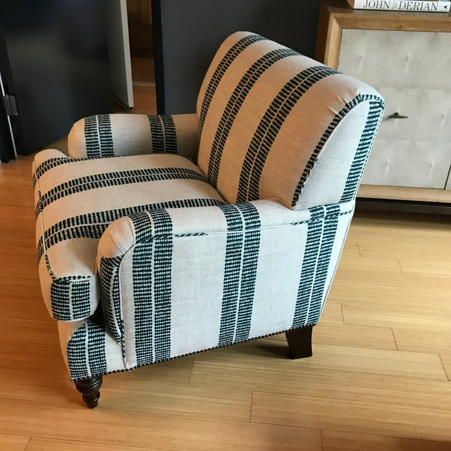This chair is nearly brand new! I bought this on OKL then had it reupholstered in Clay Mclaurin Fabric. Dimensions are:...