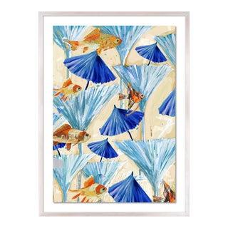 Zanzabar Collage 3 by Lulu DK in White Wash Framed Paper, Medium Art Print For Sale