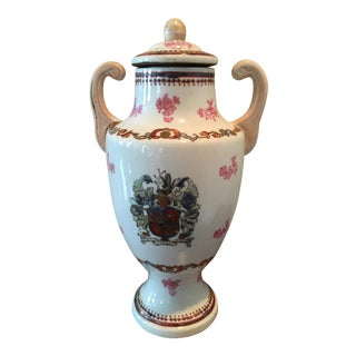 Antique Chinese Hand Painted Urn For Sale