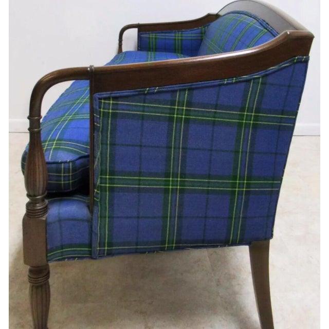 Vintage custom mason art Sheraton style mahogany sofa couch. 004-101. Mason-Art has been making bench made, workroom...