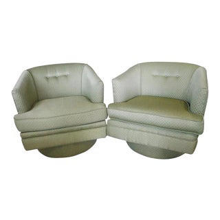 Vintage Milo Baughman Swivel Tub Chairs - A Pair For Sale