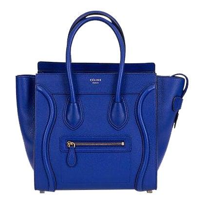 Celine New Indigo Micro Luggage Bag For Sale