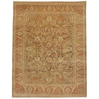 Late 20th Century Vintage Turkish Oushak Rug - 8′11″ × 11′9″ For Sale