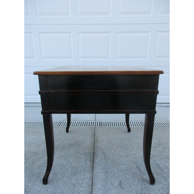Theodore Alexander Theodore Alexander Antiqued Black Lacquer Side Table For Sale - Image 4 of 13