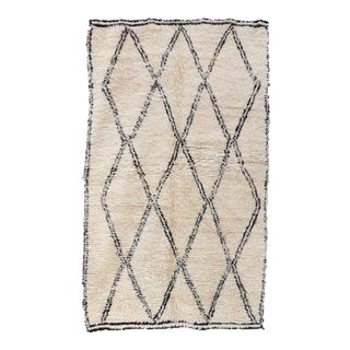 1980s Vintage Beni Ourain Rug For Sale