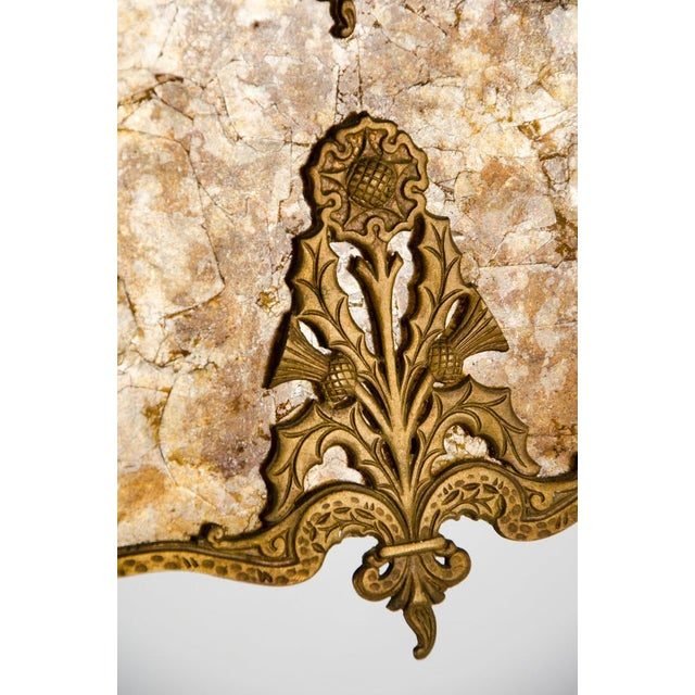 Victorian Style Mica 4 Light Chandelier For Sale - Image 9 of 13