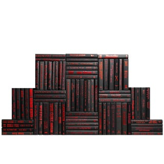 Modern Onyx &Amp; Red Book Wall, S/75 For Sale