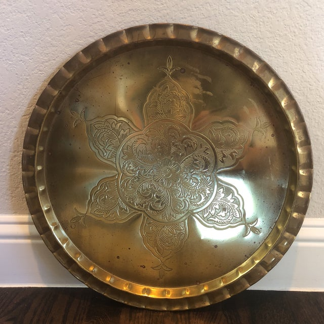 1970s Brass Tray For Sale - Image 5 of 5
