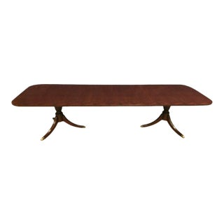 Leighton Hall Made-To-Order Cathedral Mahogany Dining Table For Sale