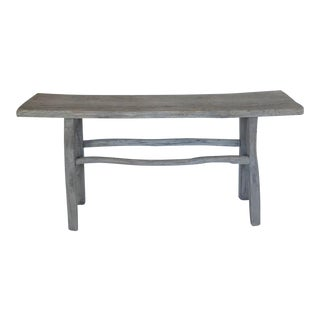 Rustic Elmwood Console For Sale