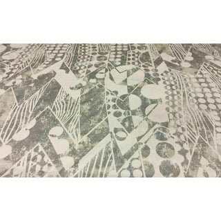 Pierre Frey Paquebot Art Deco Iceberg Silver Geometric Velvet Upholstery Fabric - 1 & 7/8th Yd For Sale