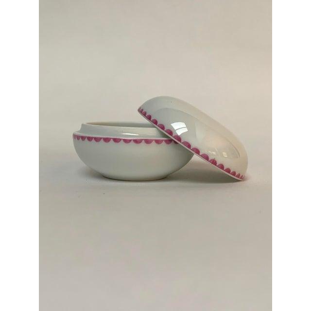 Contemporary Richard Ginori Italian Porcelain Trinket Box For Sale - Image 3 of 6
