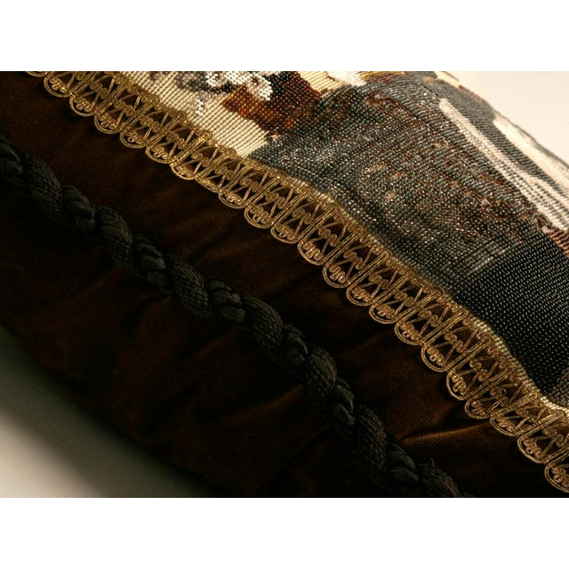 c.1880 The Best Antique English Folk Art Hand-Beaded Pillow Ever For Sale - Image 10 of 10