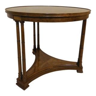 Henredon Heritage Hollywood Regency Banded Walnut Accent Table For Sale