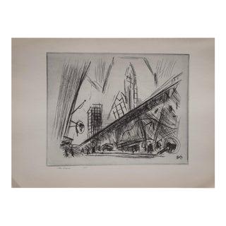 John Marin, Downtown New York, Lithograph, 1939