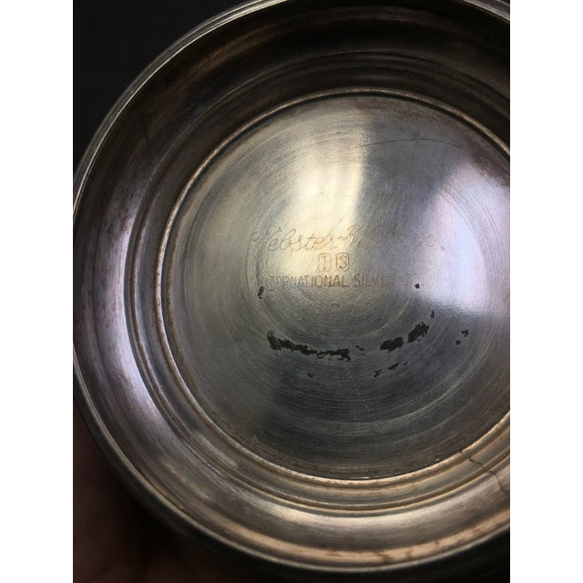 Webster Wilcox Blue Lined Silver Plate Bowl For Sale In Milwaukee - Image 6 of 7