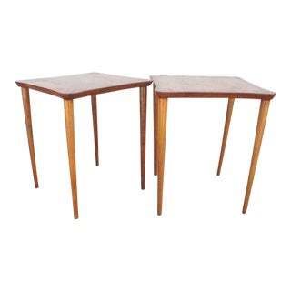 Vintage Wood Cocktail Tables - a Pair For Sale