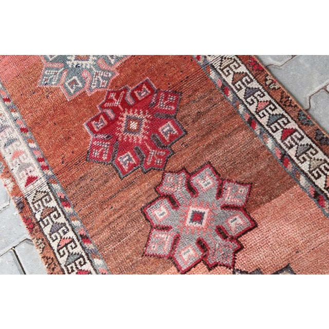 "1960's Vintage Turkish Hand-Knotted Long Runner Rug - 2'6"" X 13'8"" For Sale - Image 4 of 11"