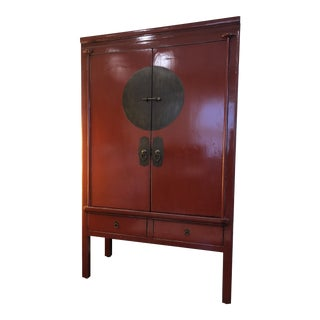 Chinese Ningbo Red Wedding Cabinet For Sale