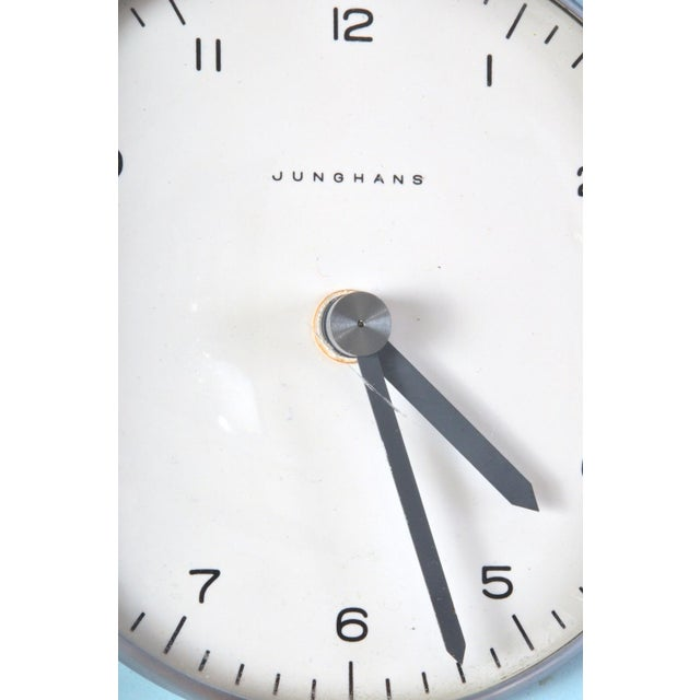 Max Bill Robin's Egg Blue Wall Clock by Max Bill For Sale - Image 4 of 5