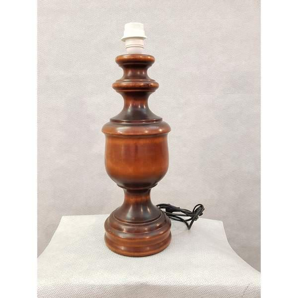 Brown 1950s French Vintage Mid-Century Wooden Desk Table Lamp For Sale - Image 8 of 8