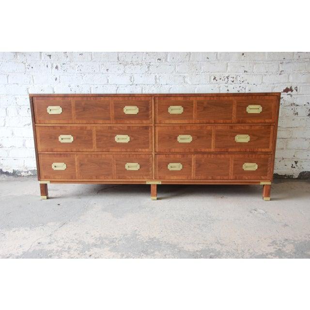 Baker Furniture Milling Road Campaign Style Long Dresser or Credenza For Sale - Image 13 of 13