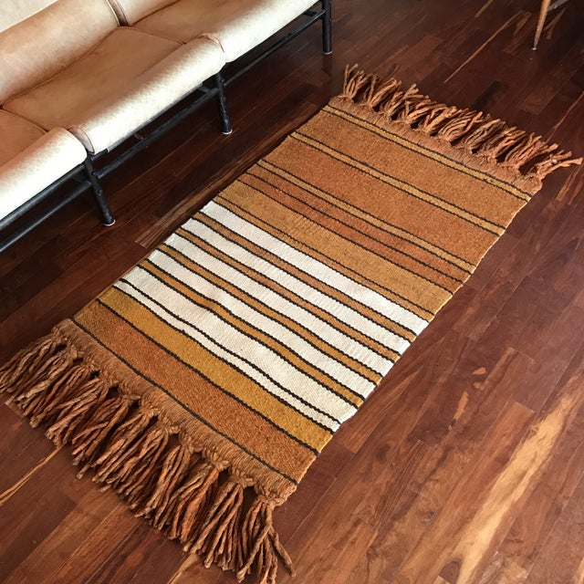 Mid-Century Handwoven Rug - Image 3 of 8