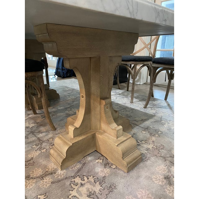 Restoration Hardware Oak Marble Table Chairish