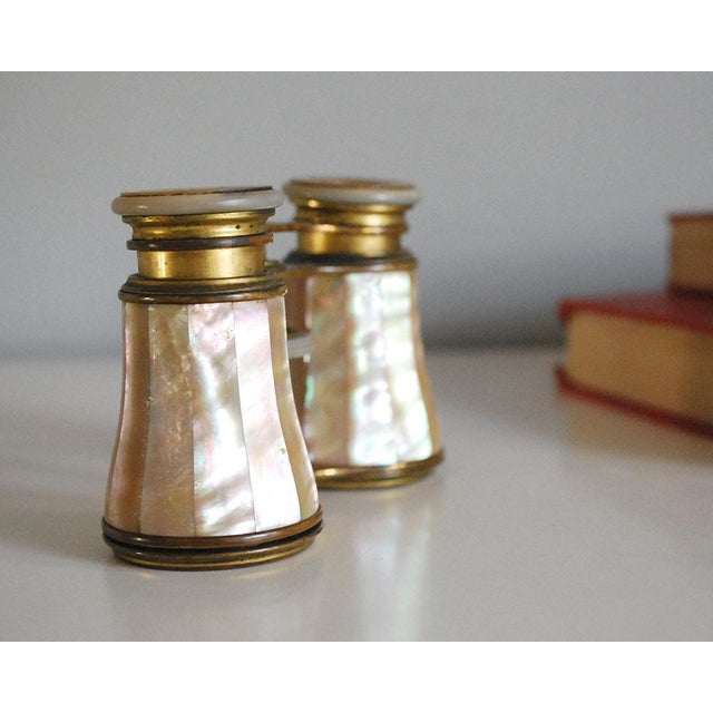 Antique French Mother of Pearl Opera Glasses For Sale - Image 4 of 7