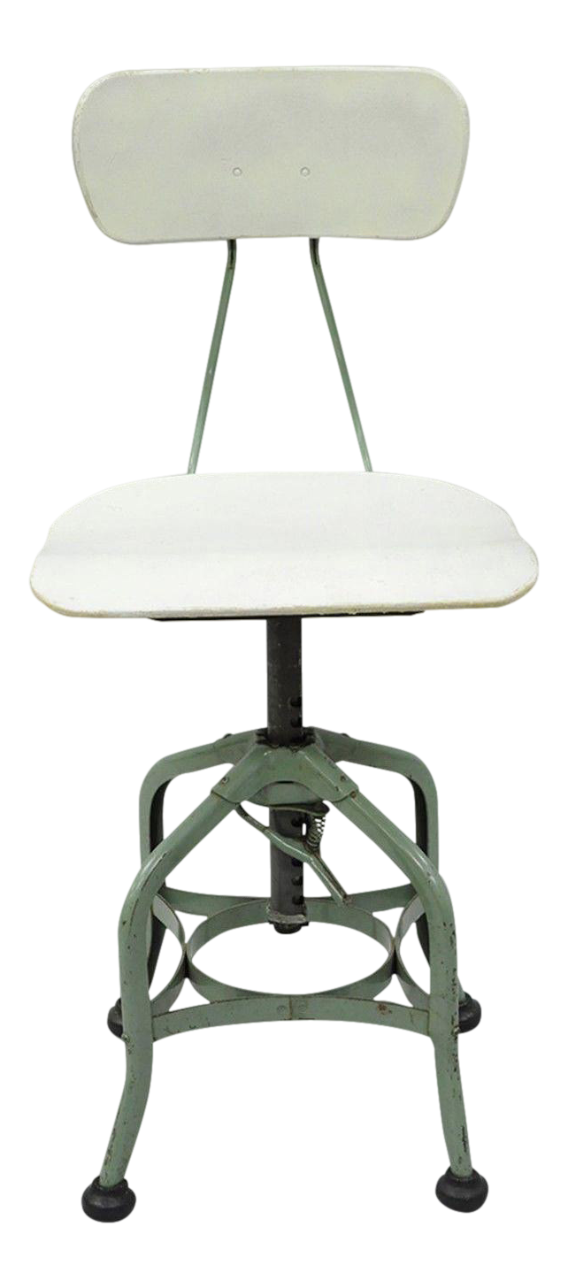 Vintage Metal Toledo Adjustable Drafting Stool