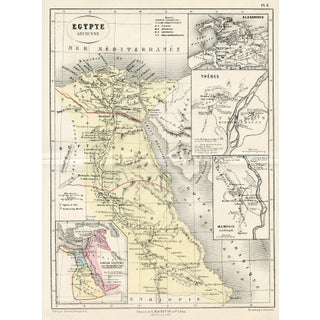 Ancient Egypt Map, 1865 For Sale