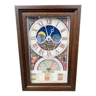 1970s True Temper Planting Calendar Electric Clock For Sale