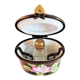 Vintage Limoges Single Perfume Bottle Box For Sale