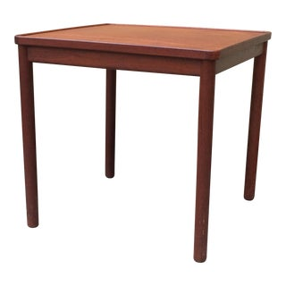 Peter Hvidt K. Thomsen Teak and Laminate Reversible Top Side/Tray Table For Sale