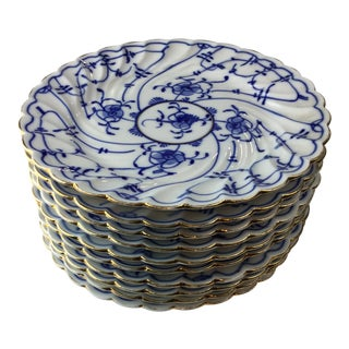 1950s Vintage Blue Onion Pattern Dining Set - 10 Pieces For Sale