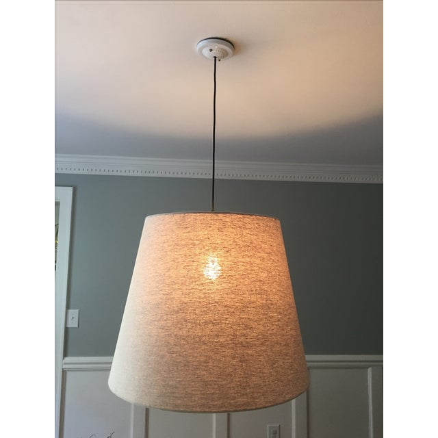 Tapered Drum Pendant in Linen - Image 3 of 6