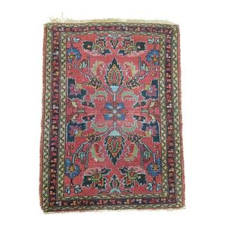 Antique Persian Sarouk Rug Mat, 2' X 2'9''