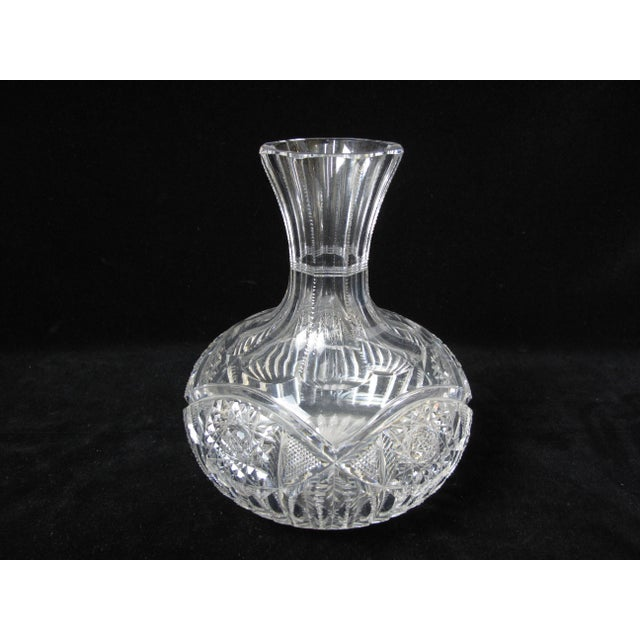 Antique American Brilliant Period Cut Crystal Carafe Decanter For Sale - Image 4 of 4