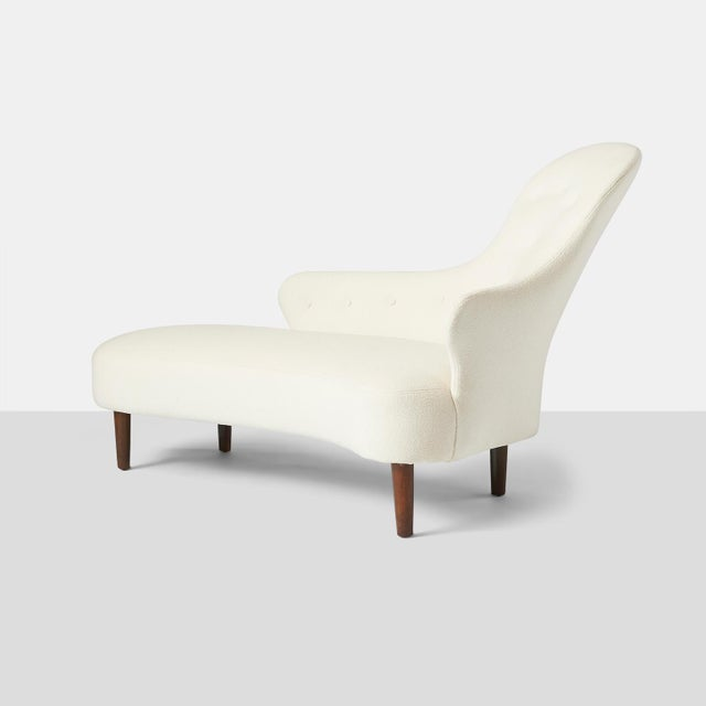 White Swedish Chaise Lounge For Sale - Image 8 of 8