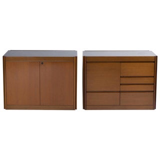 """Set of Two Marble-Top """"4D"""" Storage System by Mangiarotti for Molteni"""