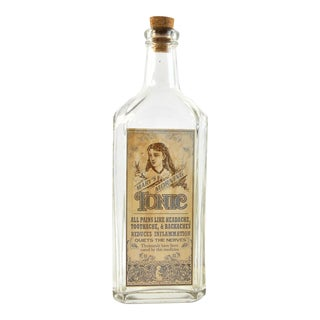Vintage Style Mary's Morning Tonic Remedy Bottle For Sale
