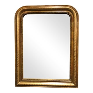 19th Century Antique Louis Phillips Golden Mirror For Sale