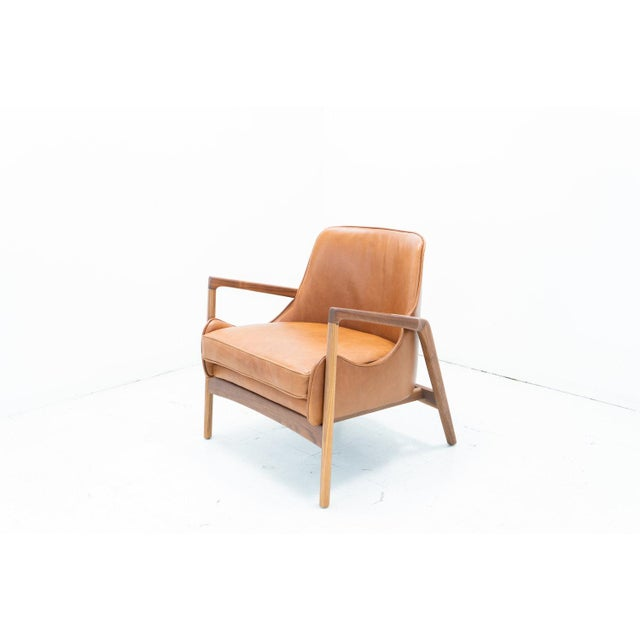 Hand Crafted Sculpted Walnut Camel Seal Chair For Sale - Image 4 of 4