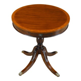 Niagara Furniture One Drawer Drum Table For Sale