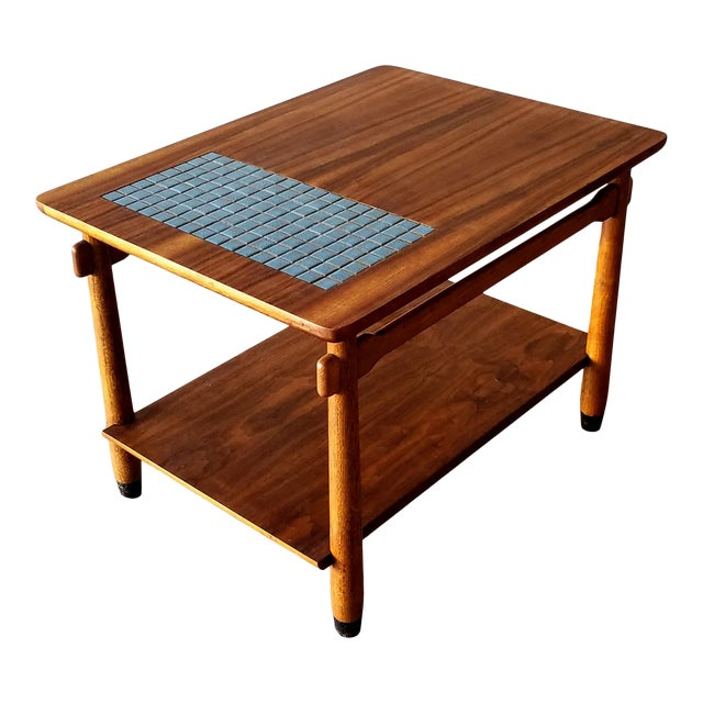 1960s Lane Side Table With Mosaic Tile Inlay For Sale